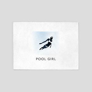 Swimming 5'x7'Area Rug