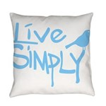 Live simply Everyday Pillow