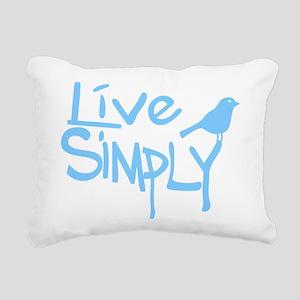Live simply Rectangular Canvas Pillow