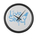 Live simply Large Wall Clock