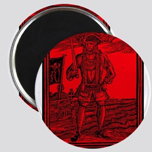 Black Bart Roberts Pirate Magnet