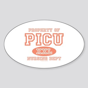 Property Of PICU Nurse Oval Sticker