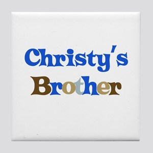 Christy's Brother Tile Coaster