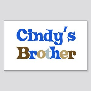 Cindy's Brother Rectangle Sticker