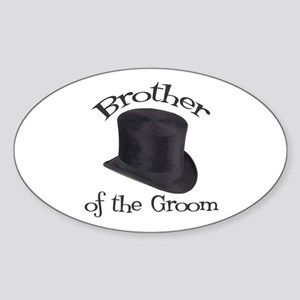 Top Hat Groom's Brother Oval Sticker