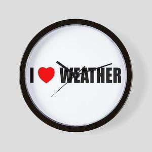 I Love Weather Wall Clock