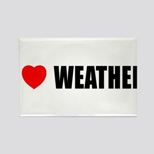 I Love Weather Rectangle Magnet