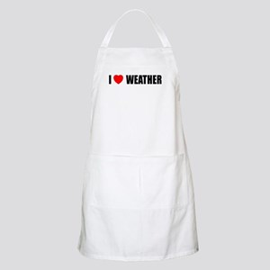 I Love Weather BBQ Apron