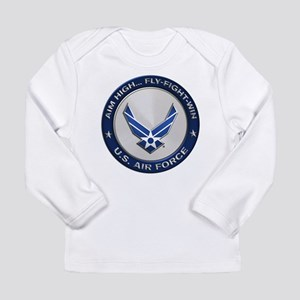 USAF Motto Aim High Long Sleeve T-Shirt