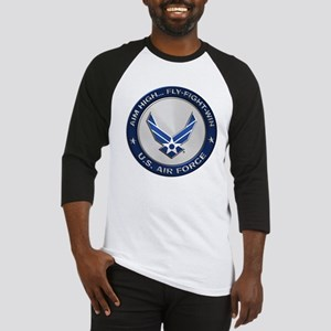 USAF Motto Aim High Baseball Jersey