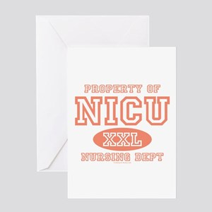 Property Of NICU Nurse Greeting Card