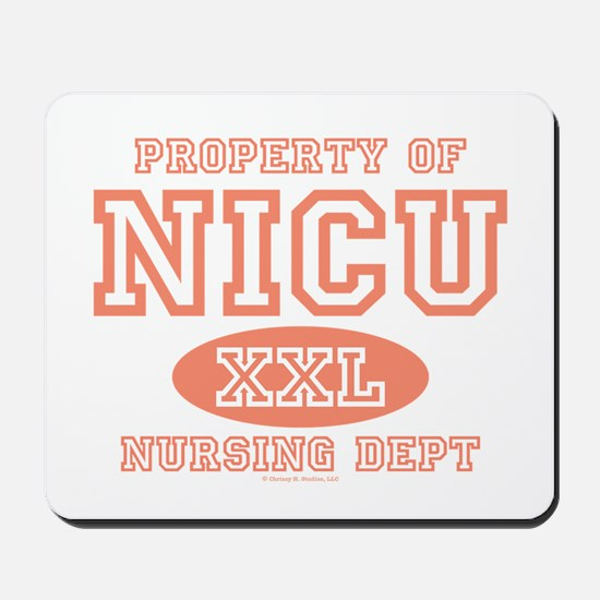 Property Of NICU Nurse Mousepad