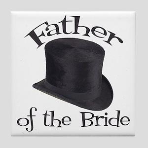 Top Hat Bride's Father Tile Coaster