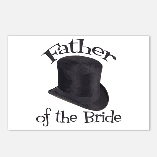 Top Hat Bride's Father Postcards (Package of 8)