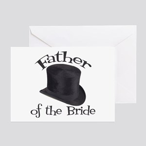 Top Hat Bride's Father Greeting Cards (Pk of 10)