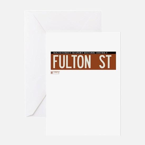 Fulton Street in NY Greeting Card