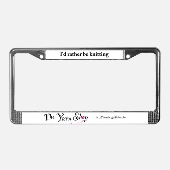 Funny Yarn License Plate Frame