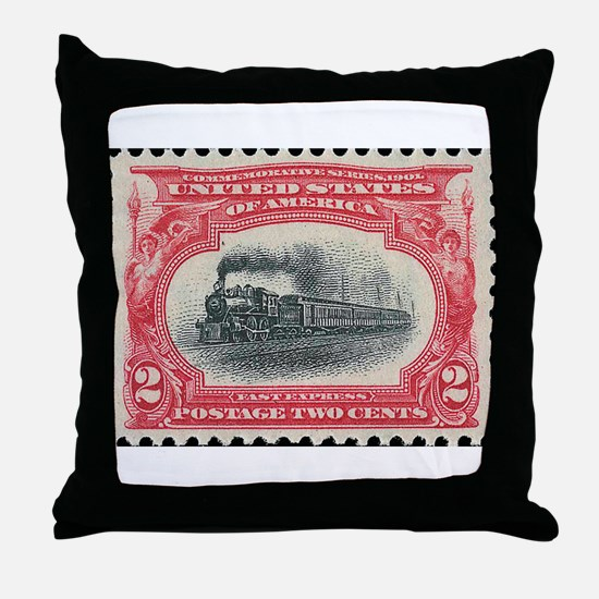 Cool Stamp collecting Throw Pillow