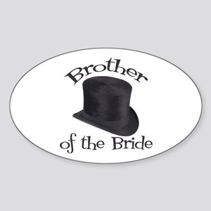 Top Hat Bride's Brother Oval Sticker