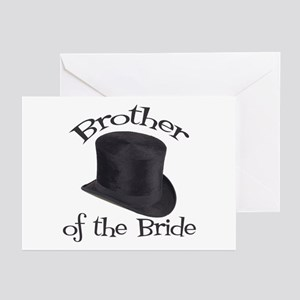 Top Hat Bride's Brother Greeting Cards (Pk of 10)
