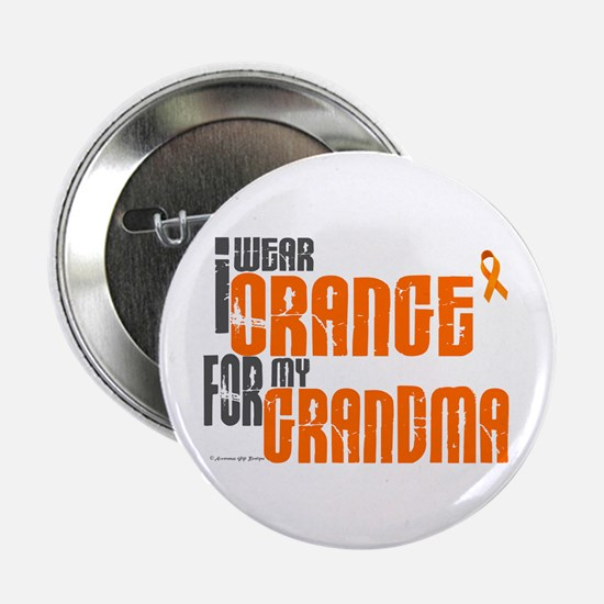 "I Wear Orange For My Grandma 6 2.25"" Button (10 pa"