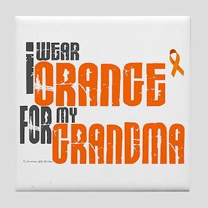 I Wear Orange For My Grandma 6 Tile Coaster