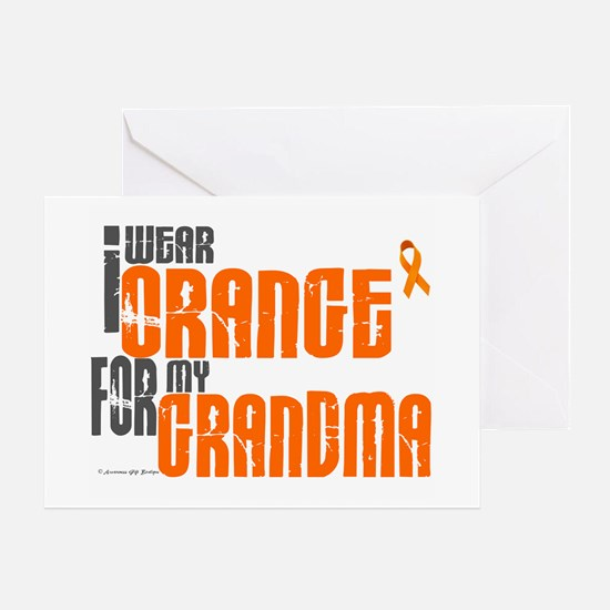 I Wear Orange For My Grandma 6 Greeting Card