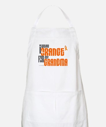 I Wear Orange For My Grandma 6 BBQ Apron