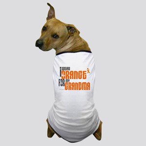 I Wear Orange For My Grandma 6 Dog T-Shirt