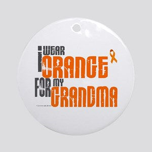 I Wear Orange For My Grandma 6 Ornament (Round)