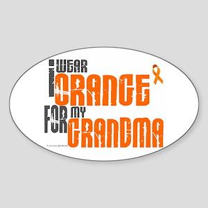 I Wear Orange For My Grandma 6 Oval Sticker