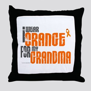 I Wear Orange For My Grandma 6 Throw Pillow