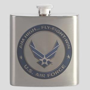 USAF Motto Aim High Flask