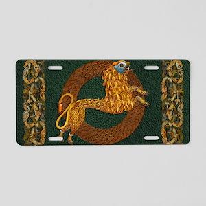 Harvest Moons Celtic Lion Aluminum License Plate