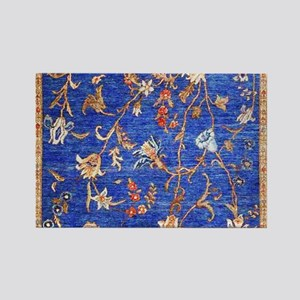 Blue Floral Oriental Carpet Magnets