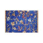 Blue Floral Oriental Carpet Magnets