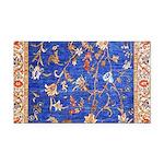 Blue Floral Oriental Carpet Rectangle Car Magnet