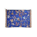 Blue Floral Oriental Carpet Makeup Bag