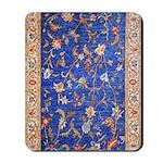 Blue Floral Oriental Carpet Mousepad