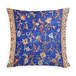 Blue Floral Oriental Carpet Everyday Pillow