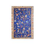 Blue Floral Oriental Carpet 4' X 6' Rug