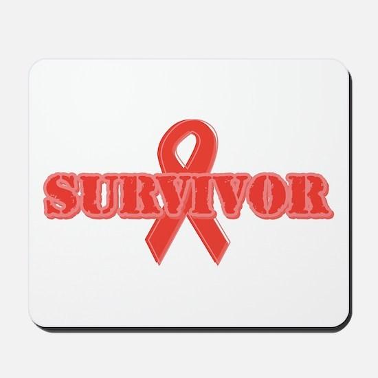 Red Ribbon Survivor Mousepad