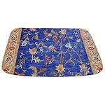 Blue Floral Oriental Carpet Bathmat