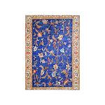 Blue Floral Oriental Carpet 5'x7'area Rug