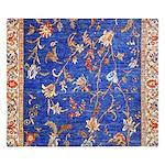 Blue Floral Oriental Carpet King Duvet