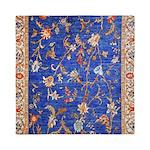 Blue Floral Oriental Carpet Queen Duvet