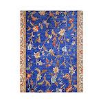 Blue Floral Oriental Carpet Twin Duvet Cover