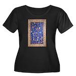 Blue Floral Oriental Carpet Plus Size T-Shirt