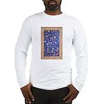 Blue Floral Oriental Carpet Long Sleeve T-Shirt