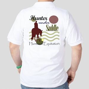 Hunter in maroon Golf Shirt